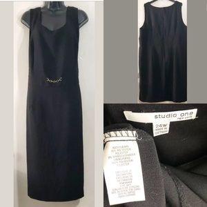Studio One NY 24w plus Sz black career dress